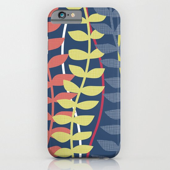 seagrass pattern - blue red yellow iPhone & iPod Case