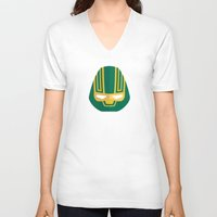 ass V-neck T-shirts featuring Kick-Ass by Oblivion Creative