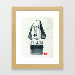 William (drawing) Framed Art Print