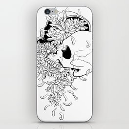 Skull #9 (Pushing Daisies) iPhone Skin
