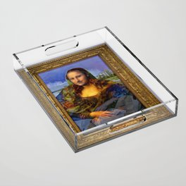 Mona (Kevin) Lisa : Satire + Contemporary Fine Art Acrylic Tray