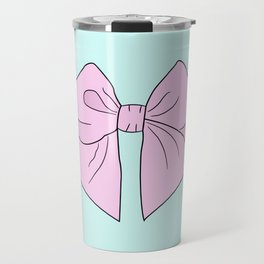 Ice Cream Pink Vector Bow Travel Mug