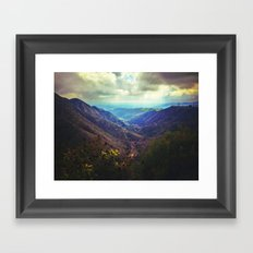 Upon the hill Framed Art Print