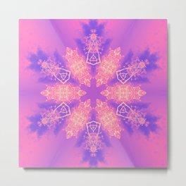 Alien pink snowflake Metal Print