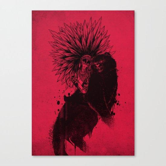 Her Black Cat Canvas Print