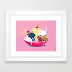 Moonie Sundae Framed Art Print