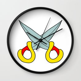Childishly drawn Two swords Wall Clock
