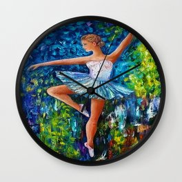 Dance In The Rain Of Color Wall Clock