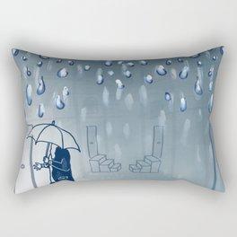 Rainy going home Rectangular Pillow