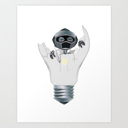 Baby Robot Art Print