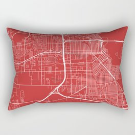 Beaumont Map, USA - Red Rectangular Pillow