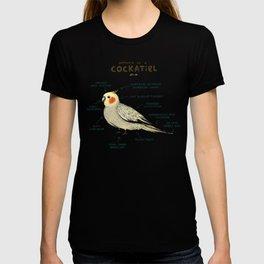 Anatomy of a Cockatiel T-shirt