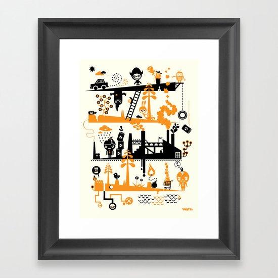 Us & Them Framed Art Print