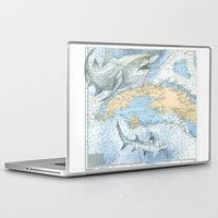 cuba Laptop & iPad Skins featuring Cuba Sharks by Carly Mejeur