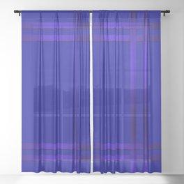 Cobalt blue Sheer Curtain
