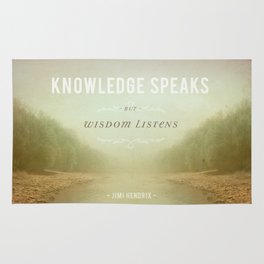Knowledge Speaks Rug