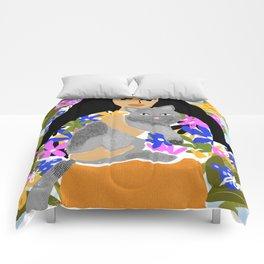 Cat Mom Comforters