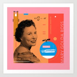 Beyond Curie: Mary Golda Ross Art Print