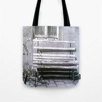 jewish Tote Bags featuring Many quiet moments to rest by Brown Eyed Lady