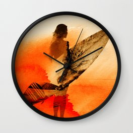Surfers Morning Wall Clock