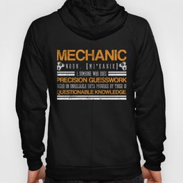 Mechanic Questionable Knowledge Garage Shift Tracks Race Car Fix Repair Cars Rims Speed Ride Wheel Hoody