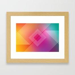 Colorful quare Framed Art Print