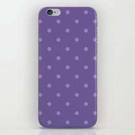 Ultra violet polka dot pattern iPhone Skin