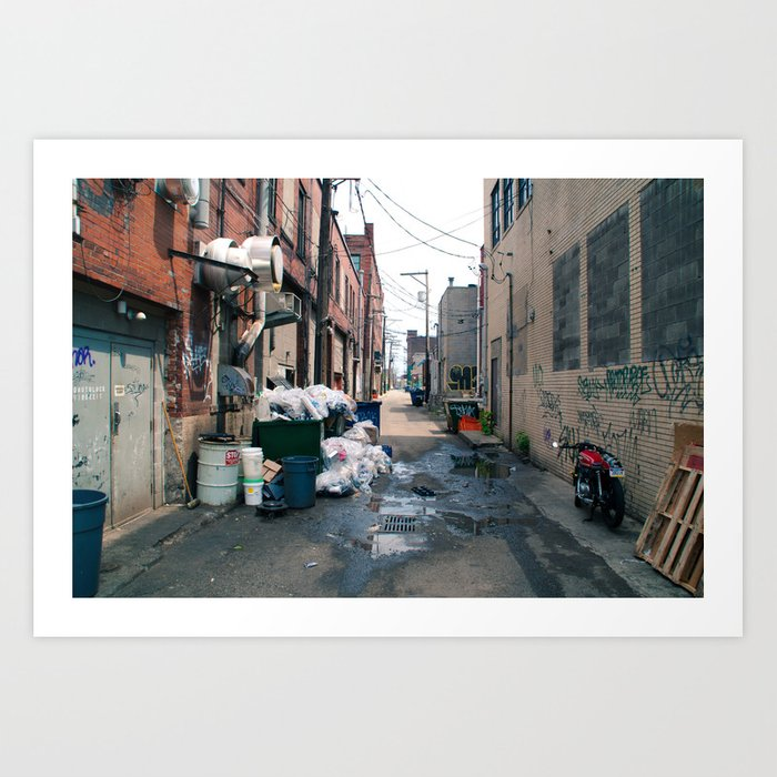 Alley Trash - Pittsburgh Art Print