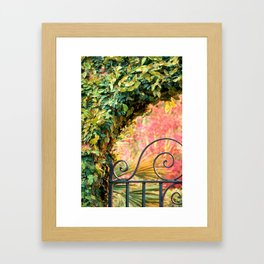 Azalea Gate 1 Framed Art Print