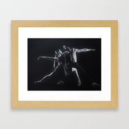 Dancing Shadow and Light Framed Art Print