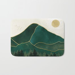Mt Hood Emerald Mountain Abstract Bath Mat