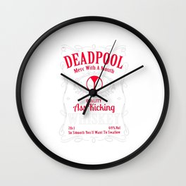 whisky dead pool Wall Clock