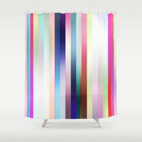cocktail Shower Curtains featuring Cocktail Stripe by GS Designs