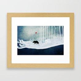 WOLF - A Love Always Carried  Framed Art Print