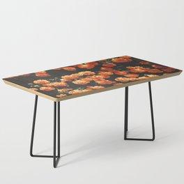 Orange Flowers Coffee Table