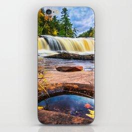 Mandio Falls - Porcupine Mountains iPhone Skin