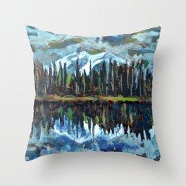 Sprague Lake, Rocky Mountain National Park Throw Pillow