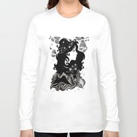 spring Long Sleeve T-shirts featuring spring rain - by Viviana Gonzalez by Viviana Gonzalez