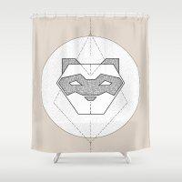 ferret Shower Curtains featuring Ferret Design by Cheeky Ferret