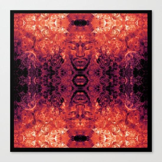 Brother Meditation - red purple Canvas Print