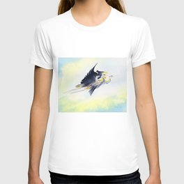 Flying Together 2 - Great Blue Heron T-shirt