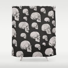 On the Two Principal Forms of Ancient British and Gaulish Skulls Shower Curtain