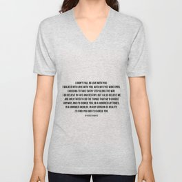 I'd choose you #quotes #love #minimalism Unisex V-Neck