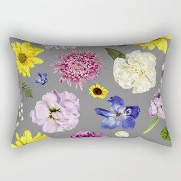 Modern Floral | Flower Power | Green Thumb Rectangular Pillow