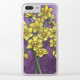 Jonquils - Watercolor and Ink artwork Clear iPhone Case