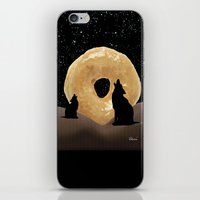 murakami iPhone & iPod Skins featuring Donut Howl by Geni
