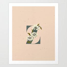 Z for Zinnia Art Print