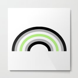 Agender Rainbow Metal Print
