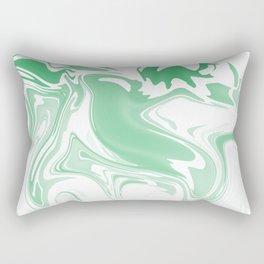 Green Abstract Ink Rectangular Pillow
