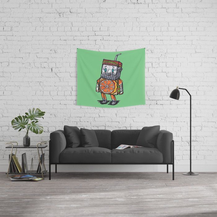 Paper toy juicy Wall Tapestry